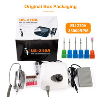 Strong 210 35000RPM Nail Drills Manicure Machine Pedicure Kit Electric Strong Nails Art Tool Model Handpiece Nail File Bit