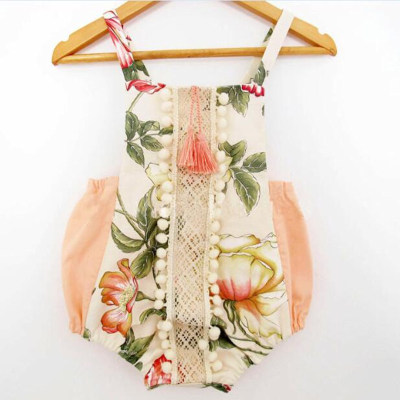 Baby rompers for girls Summer 2017 newborn baby girl clothes Floral prints  Romper newborn clothes  Bloomers