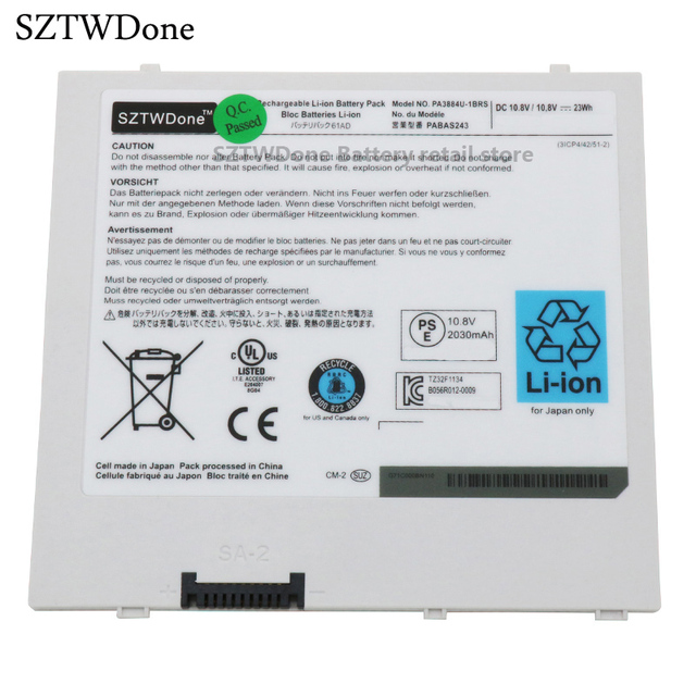SZTWDone PA3884U 1BRS PABAS243 tablet Battery for Toshiba Thrive 10