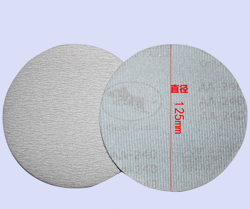 5 Inch 125mm Sandpaper Disc Playing Flocking Matte Paper Self-adhesive Disc Sand Disc Mill Gas Back White Cashmere Sandpaper