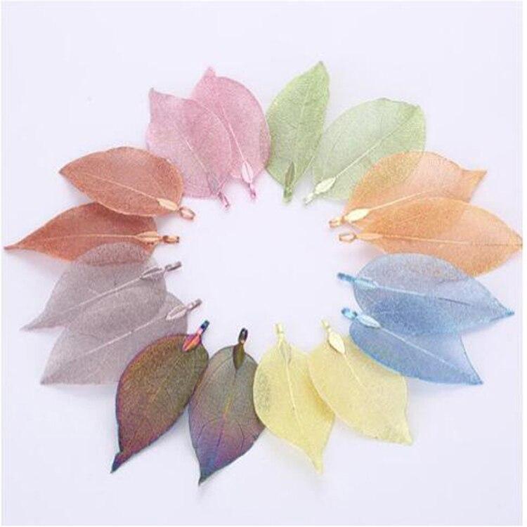Новые Натуральные подвески в виде листьев, ювелирные изделия ручной работы, сделай сам, изготовление ювелирных изделий, очарование для женщин/девушек, серьги/ожерелье, красивые подвески