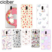 ciciber Cute Unicorn Phone Case For Oneplus 7 Pro 6 5 T Soft TPU Back Cover Clear Coque for 1+7 Pro 1+ 6 1+5 T Funda Shell Coque