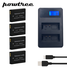 4X 3.7V 900mAh NB-8L Li-ion Battery+2Port Battery charger with LED For Canon Powershot A3100 A3200 A3300 PM059 A2200 A3000 L20 puluz eu plug battery charger with cable for canon nb 4l nb 8l battery