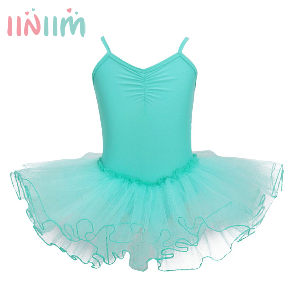 Leotard Girls Dancewear Kids Ballerina Ballet Dress Princess ...