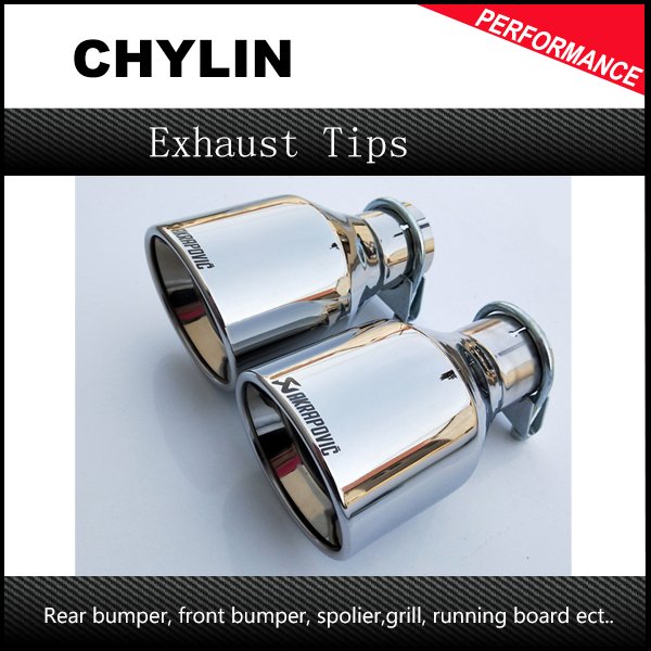 Free Shipping: 1Pcs car styling Inlet <font><b>57mm</b></font> to Outlet 102mm Akrapovic Stainless Steel <font><b>Exhaust</b></font> <font><b>Tip</b></font>, Escape Akrapovic Muffler <font><b>Tip</b></font> image