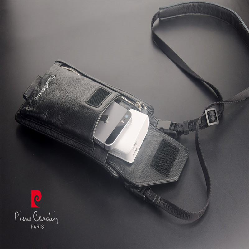Pierre cardin manlig avslappnad axelskyddskinnrem av läder för LG - Reservdelar och tillbehör för mobiltelefoner - Foto 3