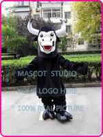 Черный бык костюм талисмана обычай необычные костюмы аниме косплей комплекты mascotte тема костюмированный карнавал 401485