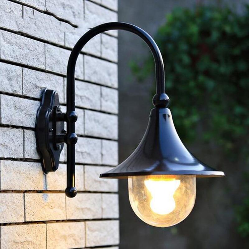 European villa Waterproof lamp outdoor wall lamp rustic wall lights outdoor balcony fashion speaker wall lamp E27 LED Bulb бовуар с де зрелость