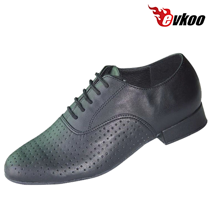 Evkoodance Brand New Men's Ballroom Latin Tango 2.5cm Heel High Dance Shoes Genuine Leather Black And White Evkoo-366 акустические кабели black rhodium tango white 2 5m
