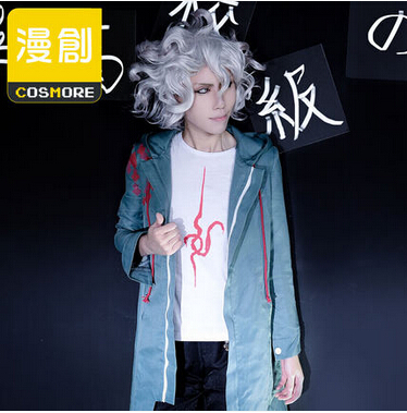 Super Danganronpa 2 Nagito Komaeda Nagito Army Green Color Jacket ONLY Cosplay Costume Clothing Custom with Real Pockets