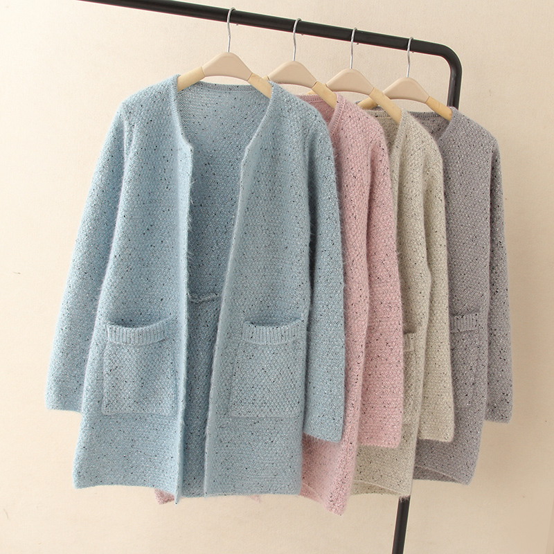 Women Long Cardigan Wine Sweater Coat Outwear Fashion Ladies Knitwear Long Sleeve Fashion 2018 Cotton Plaid Cardigans For Lady