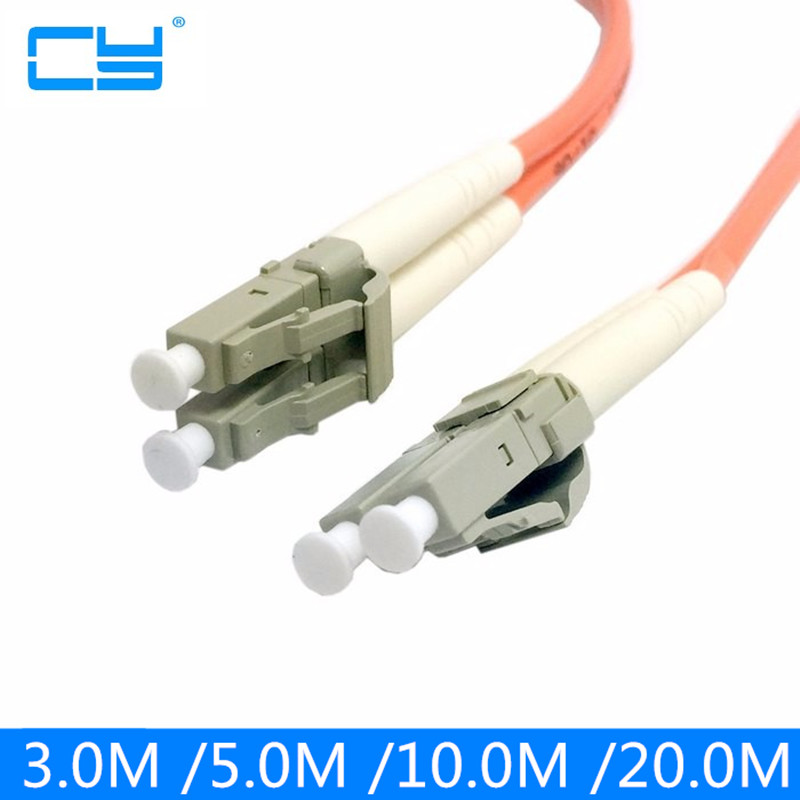 Dupla LC de fibra LC Patch Cord Jumper Cable MM Duplex modo Multi optica para a rede 3 m 5 m 10 m 20 m 10ft 16ft 33ft 66ft professional fiber optic connectors cable 3m lc to lc fiber patch cord electricos jumper cable duplex 3 0mm mm 62 5 125 lc lc hr