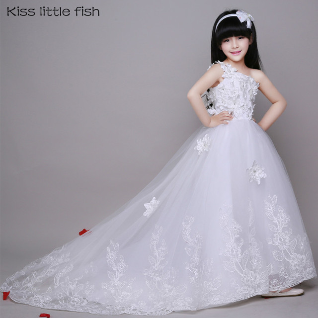 8010 Free Shipping Original Wedding Gowns For Flower Girls