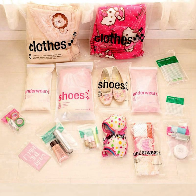 23pcs/Set Women Travel Clear Cosmetic Bag Zipper Make Up Transparent Makeup Case Organizer Storage Pouch Toiletry Beauty Bag