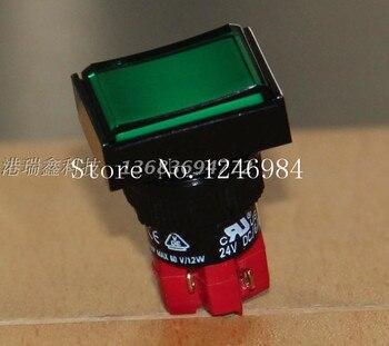 [SA]D16LAT1-1AB Taiwan Progressive Alliance interlocking green rectangle single button normally open normally closed switch DECA