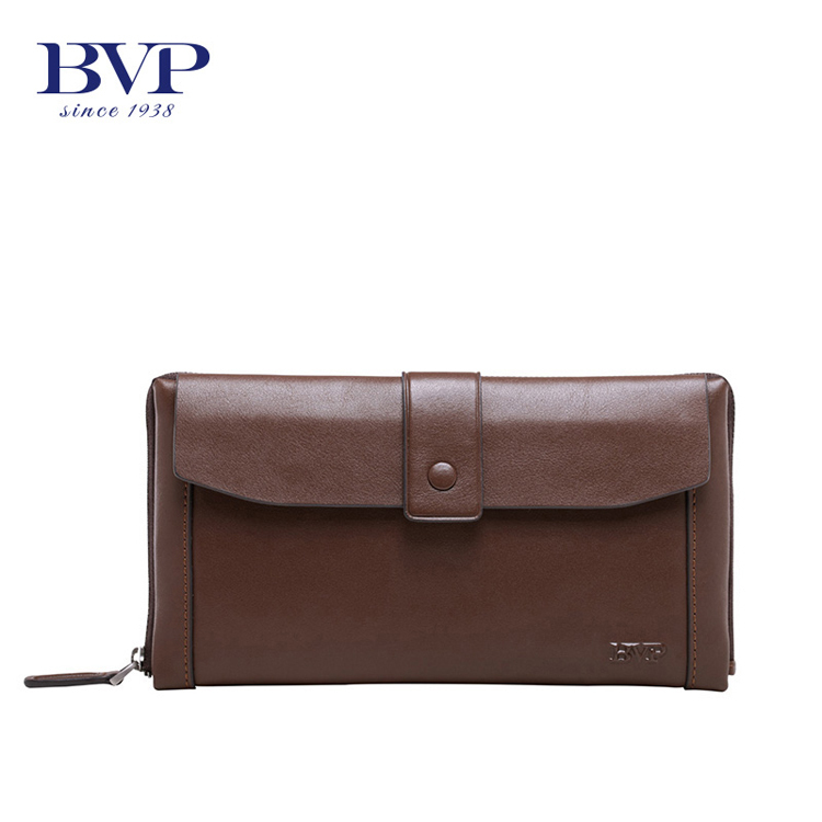 BVP - Brand Supreme Quality New 2017 High-end Men's Top Grain Genuine Leather Day Clutches bag Male Brown Handbag j30 bvp high end 100