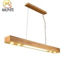 Nordic Wooden rectangle pendant lights Woodwork Living room hanglamp lamp Modern lighting fixtures home decor luminaire