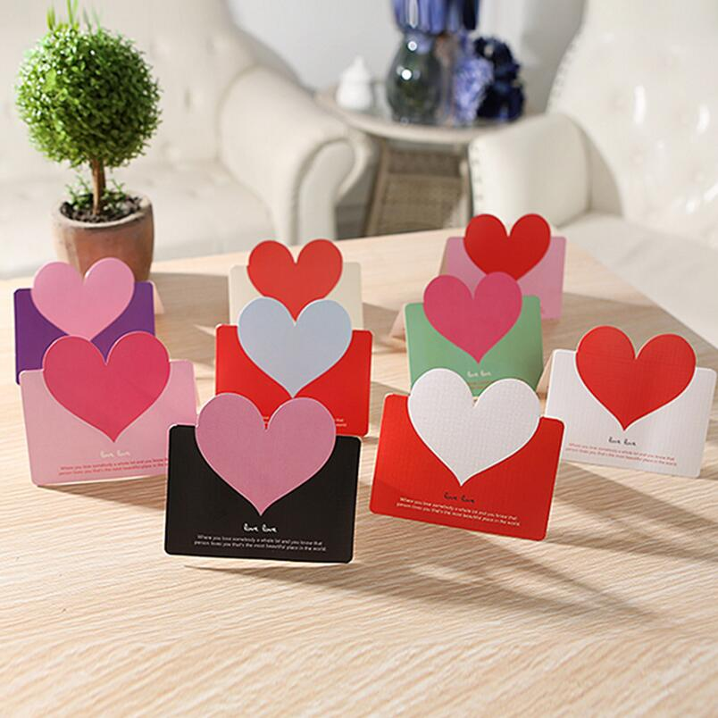 30Pcs Card Label Blank Luggage Tags Heart Greeting Cards Kraft Paper Wedding Party Valentines Day Gift Free Shipping