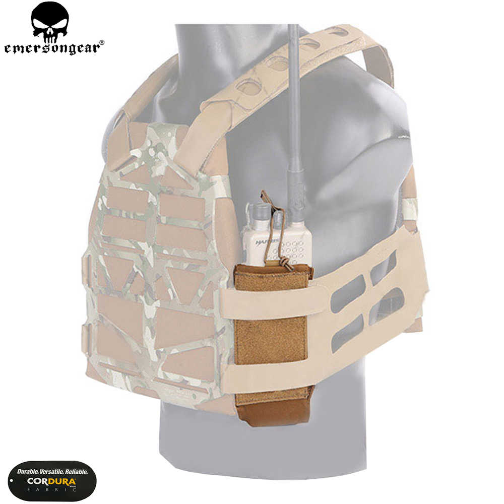 EMERSON точность чехол для радио для SS Жилет Тактический Подсумок Охота Airsoft мешок инструмента военной EMERSONGEAR радио сумка EM9056