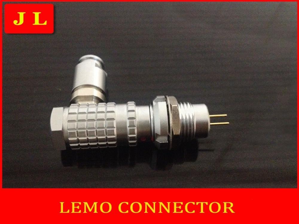 ФОТО LEMO FHG.1B.302.CLAD/ECG.1B.302.CLL,LEMO connector 2 pin plug socket,90 degree elbow plug compatible connector (Free shipping)