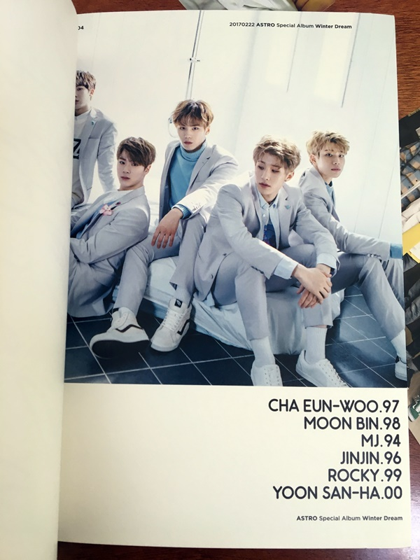 Winter Dream Album ASTRO Special CD Poster t