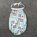 2017 ropa de niña de flores sin mangas del bebé de los mamelucos niños de una pieza recién nacido infantil roupas de bebe general todler ropa