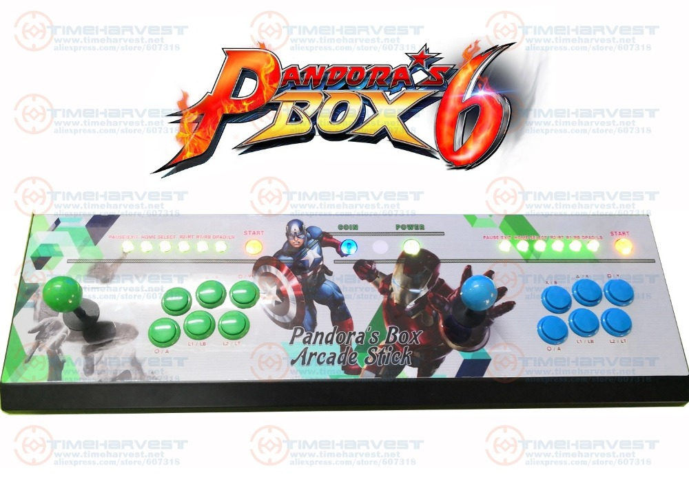 все цены на Pandora box 6 Family Game Console 2 Player 1300 in 1 TV Fighting Joystick Arcade Rocker with 4 cores CPU HDMI VGA 720P HD Output онлайн
