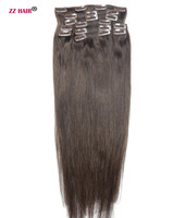 ZZHAIR 140g 280g 16 28 Machine Made Remy Hair 10pcs Set Clips In Human Hair Extensions