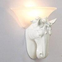 Лошадь Американский ретро декоративные настенные лампы Европейский Промышленный балкон бар кофейня bae черный белый свет стены za913534
