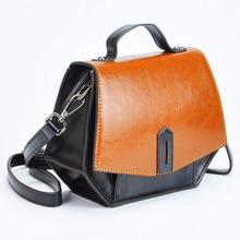 Retro Classic Ladys Bag Female Handbag Manual Cross Body Bag Small Wallet Cow Split Leather Bag Prism Paint Surface Green,brown
