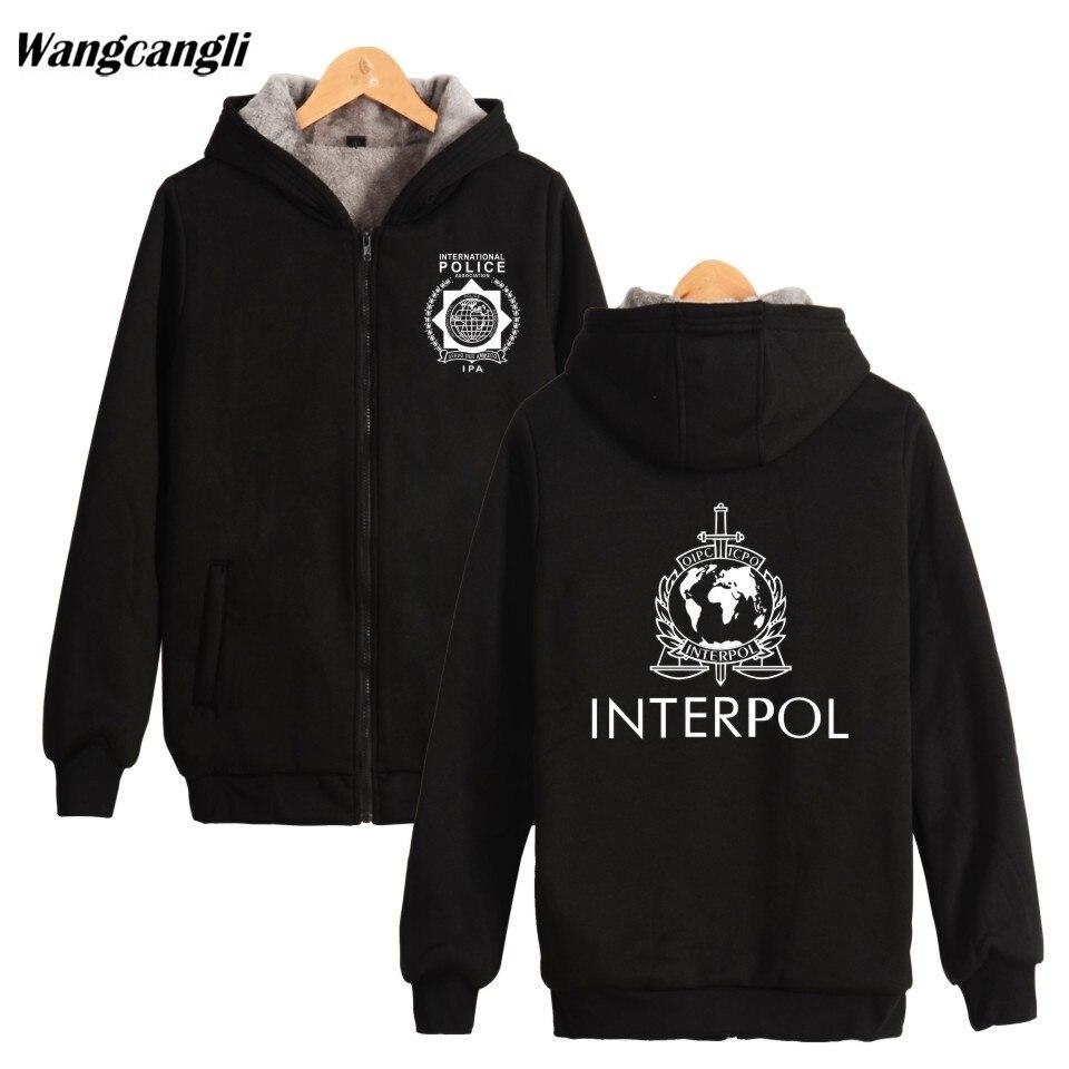 2018 INTERPOL Punk Band Winter Hoodie Coat Zip Cap Hoodies Men Women Thick Warm Hip Hop Sweatshirt Plus Size winter Jacket Men