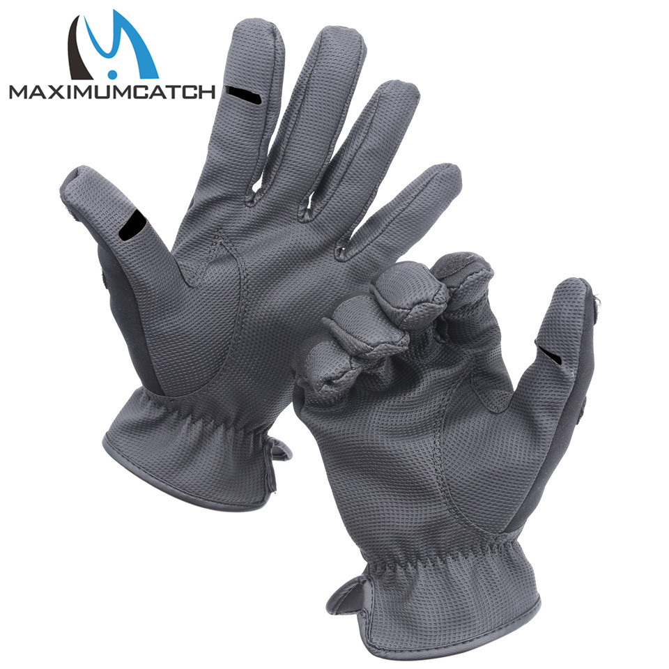 Maximumcatch 1 pair neoprene fishing gloves elastic for Neoprene fishing gloves