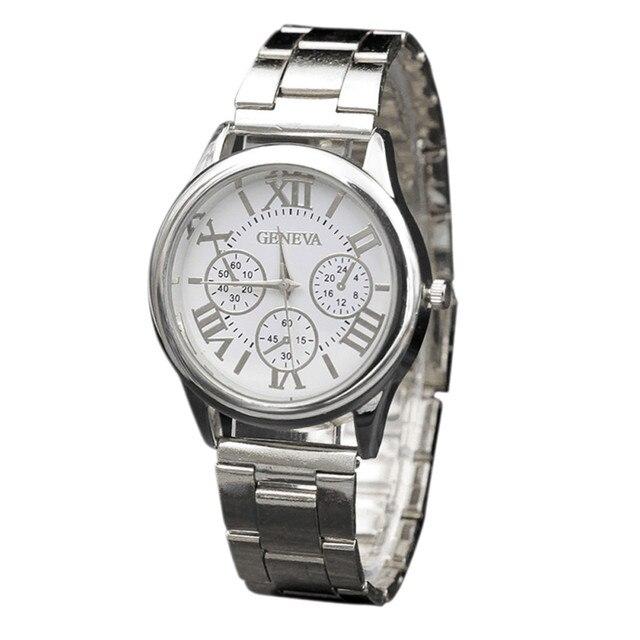 Geneva Watch women Stainless Steel Quartz Wrist Analog Watch women's watches dre