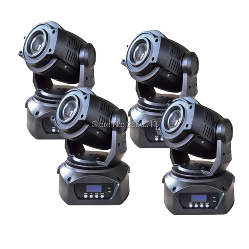 4pcs 90W LED Moving Head Spot Stage Lighting Hi-Quality 90W 3 Prism 90W LED DJ Spot Light DMX512 LED Patterns gobo effect light 4pcs lot 30w led gobo moving head light led spot light ktv disco dj lighting dmx512 stage effect lights 30w led patterns lamp