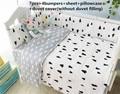 Promoção! 6/7 PCS Bebê Berço cama set Bumper Capa Bumper Filler e Folha de Sono Do Bebê, 120*60/120*70 cm