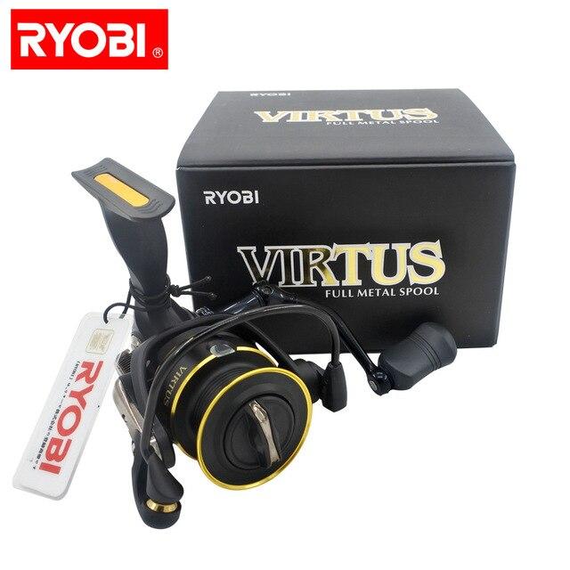RYOBI Original fishing reel VIRTUS spinning reel 4+1 bearings 5.0:1/5.1:1 Ratio 2.5KG-7.5KG Power Japan reels with CNC handle 5