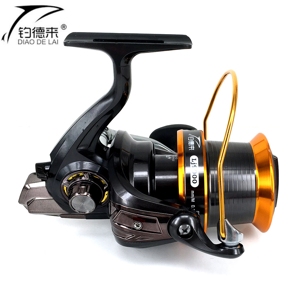 Jigging long cast reels spinning reel full metal spool for for Surf fishing reels