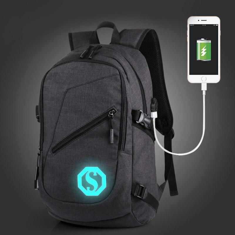 Обувь для мальчиков школьного рюкзака студент световой рюкзак USB зарядка переключение совместное рюкзак Дорожные сумки подросток Водонепр...