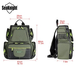 Image 4 - SeaKnight SK004 sac de pêche en plein air grande capacité 25L multifonctionnel 41*44*20cm sac à dos de pêche 1000D Nylon