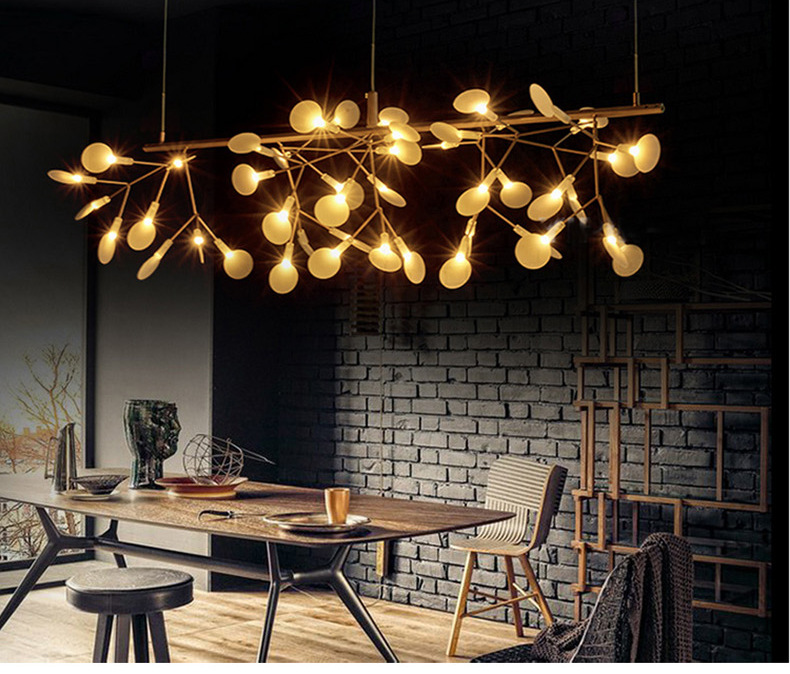 X Modern restaurant lighting tree branches leaf firefly light bedroom cafe led art creative living room chandeliers Round lights z modern european restaurant crystal pendant light luxury e27 led hall lamp art creative bedroom living room indoor lighting