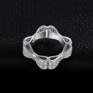 Image 3 - JewelryPalace CZ 결혼 반지 여성을위한 925 스털링 실버 반지 Stackable Anniversary Ring Eternity Band Silver 925 Jewelry