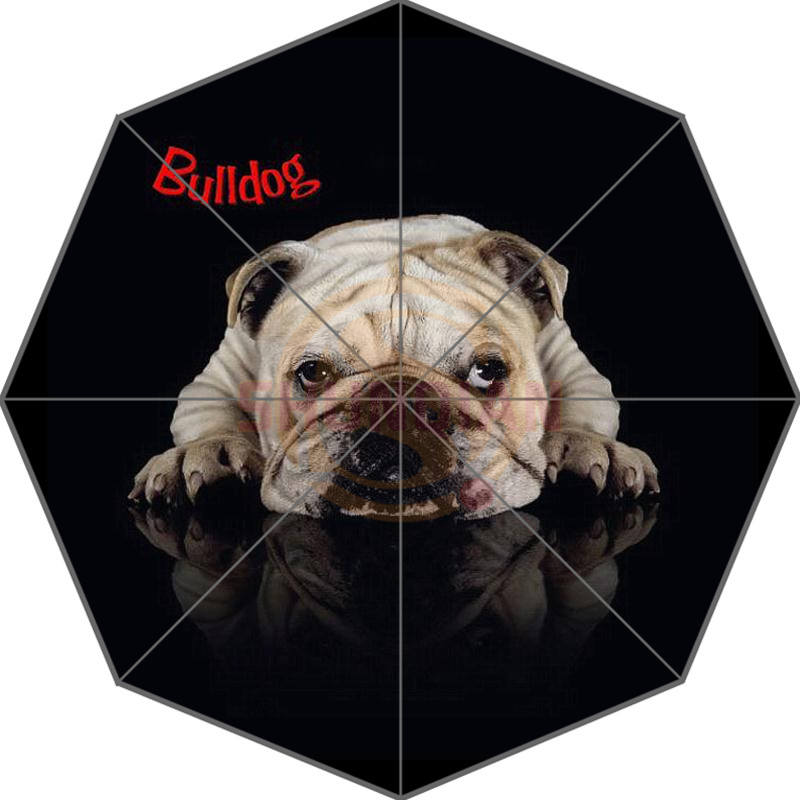 Hot Custom Bulldog Beste Nice Cool Design Bærbar Mote Stilig Nyttig Foldable Paraply God gaveide! Gratis frakt U9876544