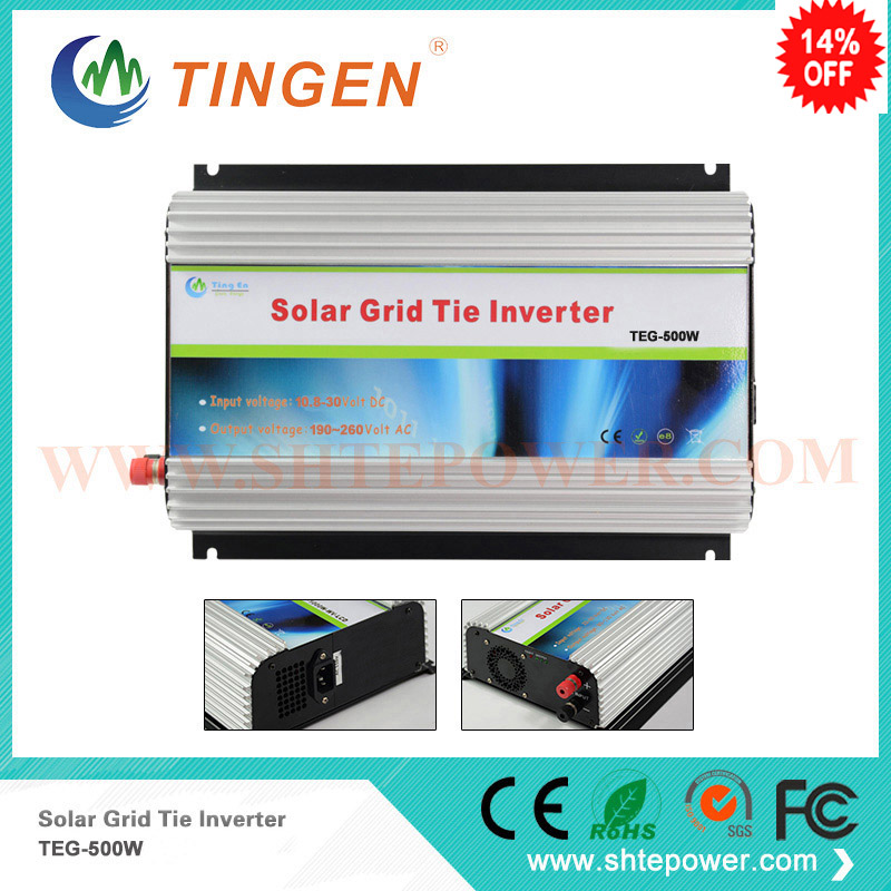Micro 12v 24v input dc inverters solar on grid tie to ac home voltage pure sine wave 110v 220v 500w micro inverter on grid tie for 600w windmill turbine 3 phase ac input 10 8 30v to ac output pure sine wave