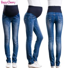Maternity Jeans Maternity Clothing For Pregnant Woman Pregnancy Denim Pants Winter Thicken Trousers Long Prop Belly Legging Pant