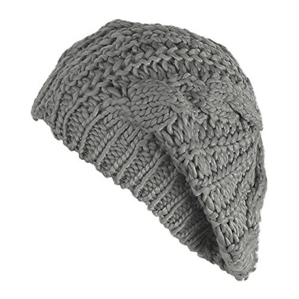 4befb99dc90a0 SYB New Women Baggy Beret Chunky Knit Knitted Braided Beanie Hat Ski ...