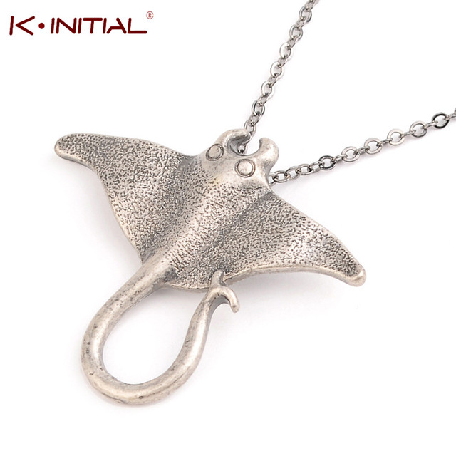 Kinitial 1pcs sting ray sea creature animal necklace unique ocean kinitial 1pcs sting ray sea creature animal necklace unique ocean stingray manta ray sea creature pendant mozeypictures Images