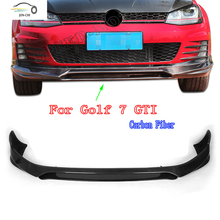 GOLF 7 MK7 GTI  Carbon Fiber Front Bumper Diffuser Lip For Volkswagen VW GOLF 7 VII MK7  GTI 2014 2015 2016 Car Styling O style