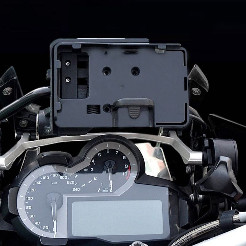 New 1 Pc Mobile Phone Navigation Bracket USB Phone Charging For BMW R1200GS 12MM Mount Holder