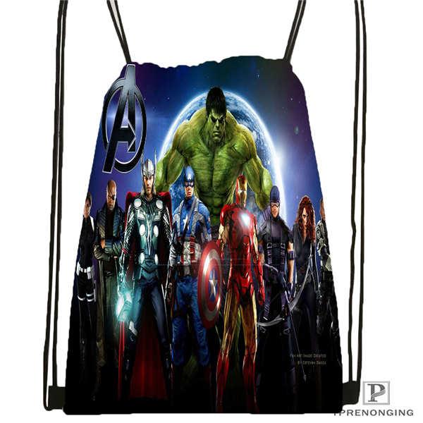 Customavengers_age_ofultrionDrawstring Backpack Bag For Man Woman Cute Daypack Kids Satchel (Black Back) 31x40cm#20180611-03-147