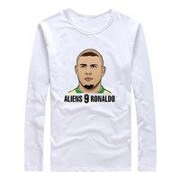 2017 Brazil Aliens 9 Ronaldo Luiz Nazario De Lima Autumn Winter Men T Shirt Long Sleeve